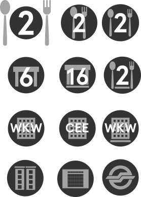 initial icons